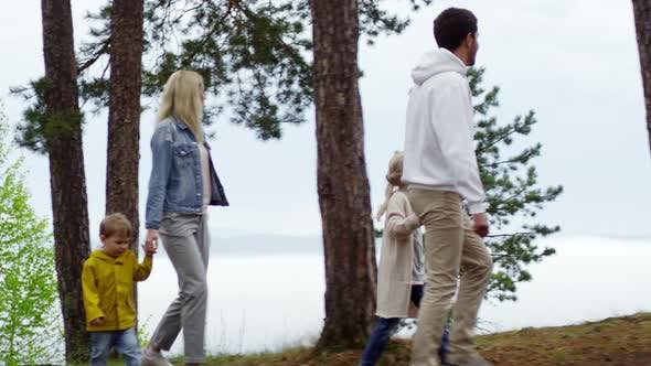 Thumbnail for Family Walking and Enjoying Scenery