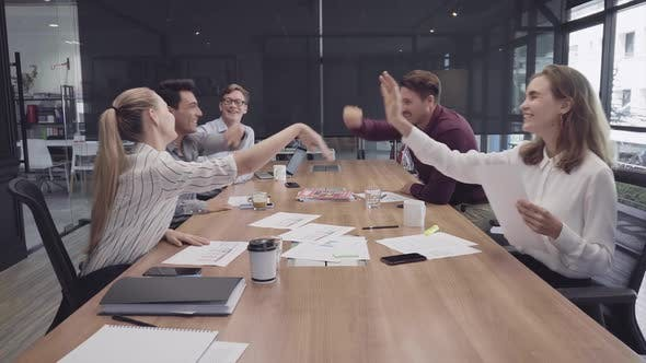 Cover Image for Successful Team High Five