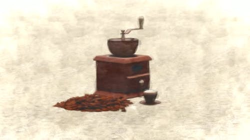 Coffee Grinding Machine Stop Motion
