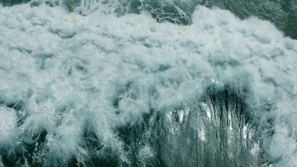 Thumbnail for Drone Top Down over Stormy Ocean Waves
