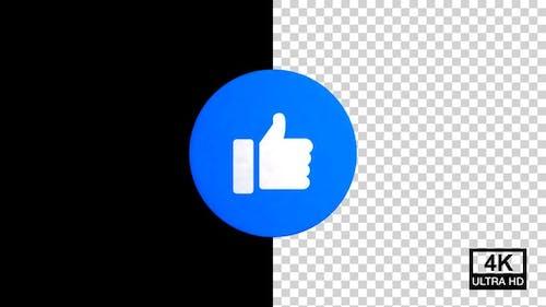 Like Facebook Reaction Emoji 4K