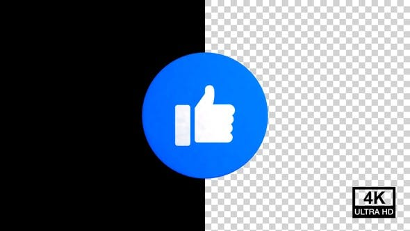 Like Facebook Reaction Emoji 4K