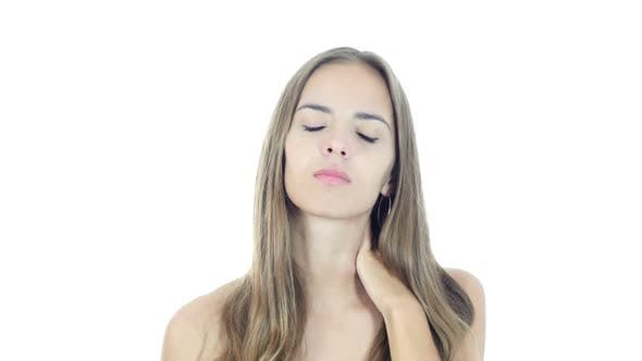 Thumbnail for Neck pain ,Woman Suffering from Pain In Neck