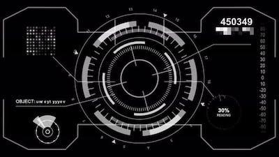 Technology HUD Interface Background