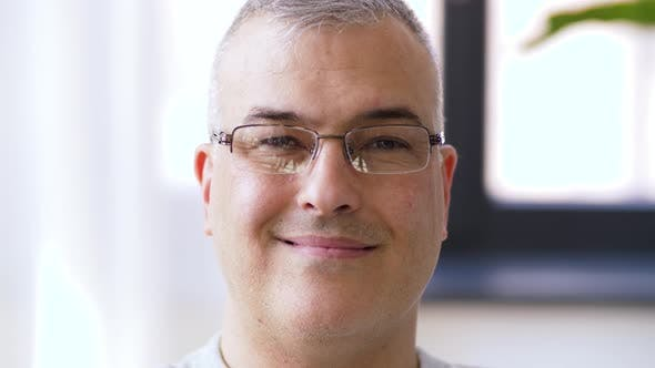 Thumbnail for Portrait of Happy Smiling Man in Glasses