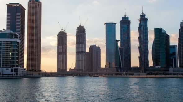 Thumbnail for Skyscrapers  Dubai Sunset