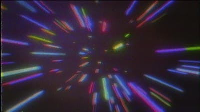 4K Abstract VHS retro cosmic background