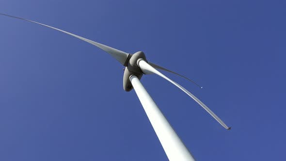Thumbnail for Windmill or Wind Turbine on Wind Farm in Rotation