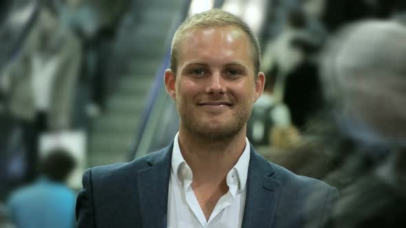 Thumbnail for Handsome Caucasian Male Entrepreneur Lifestyle Portrait
