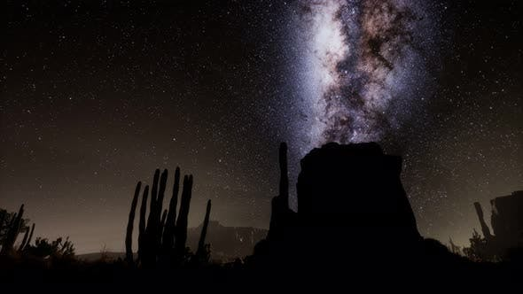 Thumbnail for Hyperlapse in Death Valley National Park Desert Moonlit Under Galaxy Stars