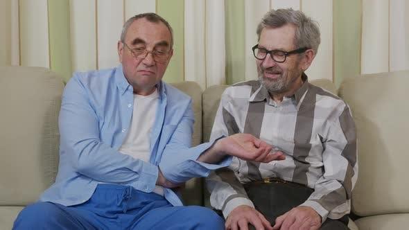 Thumbnail for Happy Elderly Retirees Communicate in Nursing Home.