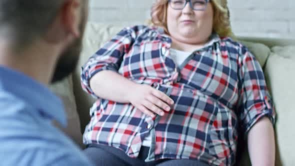 Thumbnail for Overweight Woman Talking to Nutrition Specialist
