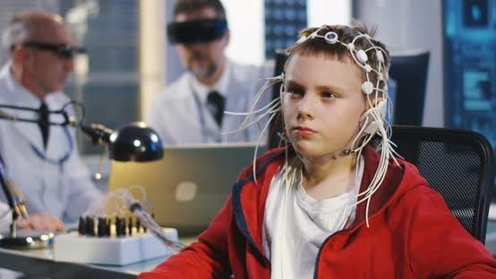 Thumbnail for Boy Undergoing Electroencephalography Examination