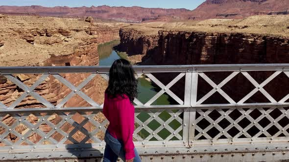 Thumbnail for Asian woman enjoying the view of the Colorado River