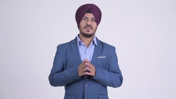 Thumbnail for Bearded Indian Sikh Businessman Explaining Something