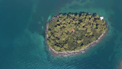 small exotic island aerial