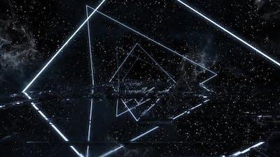 Dark Neon Nebula Background Loop