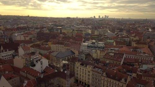Czech Republic Prague Aerial Flying