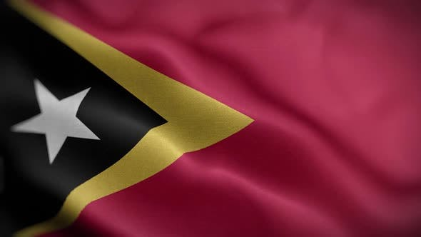 Thumbnail for East Timor Flag Textured Waving Front Background HD