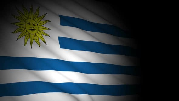 Thumbnail for Uruguay Flag Blowing in Wind