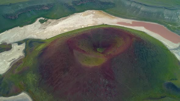 Thumbnail for Aerial View Volcanic Crater Lake