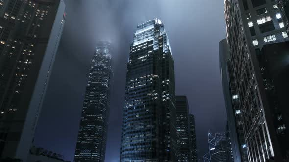 Thumbnail for Corporate Buildings With Fog At City Night