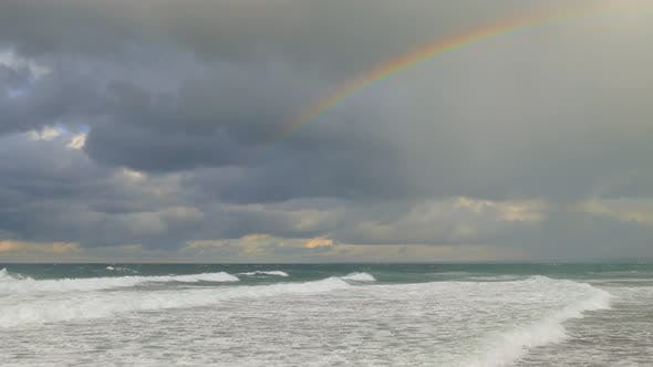 Thumbnail for Rainbow over the Stormy Sea