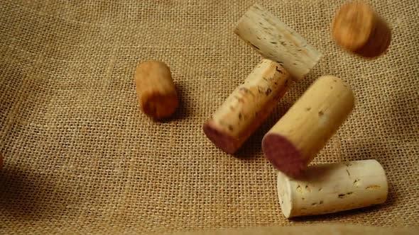 Falling Wine Corks