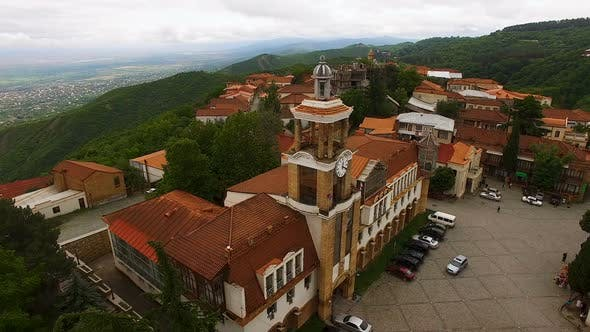 Thumbnail for Fascinating Aerial View of Main Square of Sighnaghi with City Hall, Sightseeing