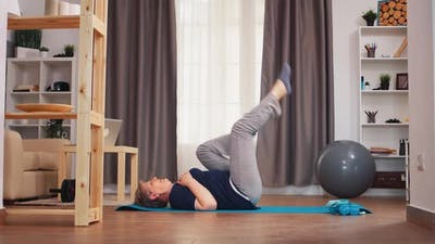 Abs Physical Training in Living Room