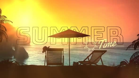 Resort Beach Area At Sunset HD