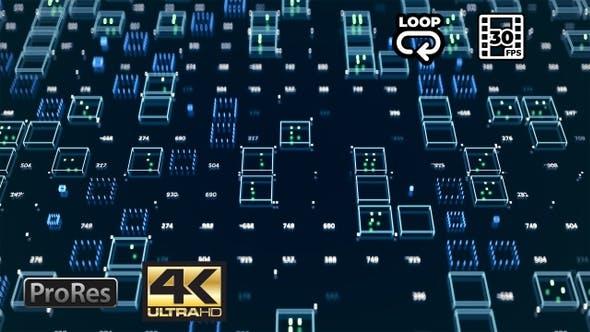 Thumbnail for Inside a Server - 4K Hi-Tech Background Loop