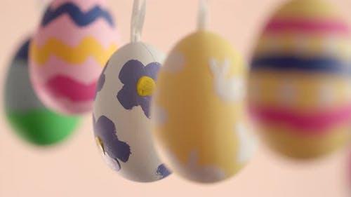 Kinder Malerei Ostern Urlaub Ei hängen