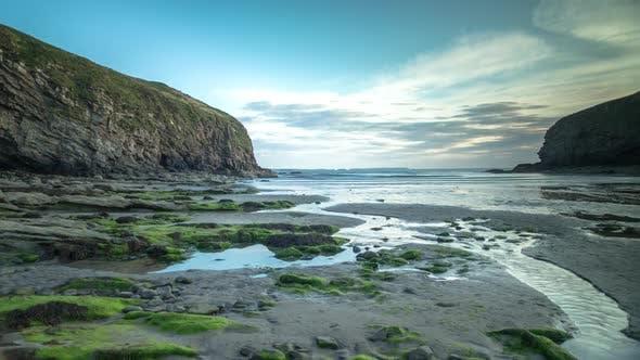 Wales sunset tide beach coast landscape nature timelpase