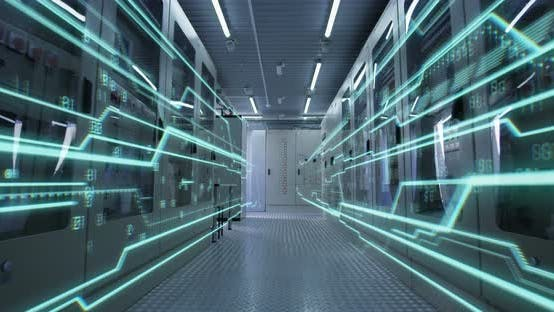 Thumbnail for Interior of a Futuristic Power Control Center