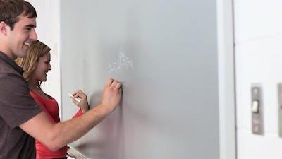 High School Students Using Blackboard
