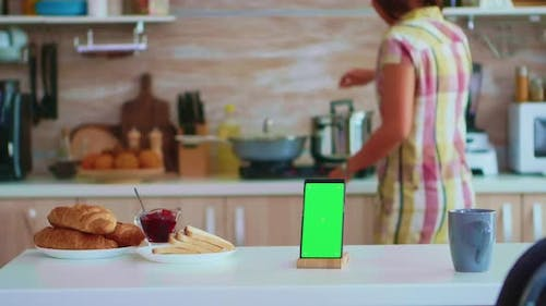 Mobile Phone with Chroma Key