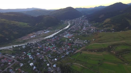Thumbnail for Aerial View Of The Carpathian Village