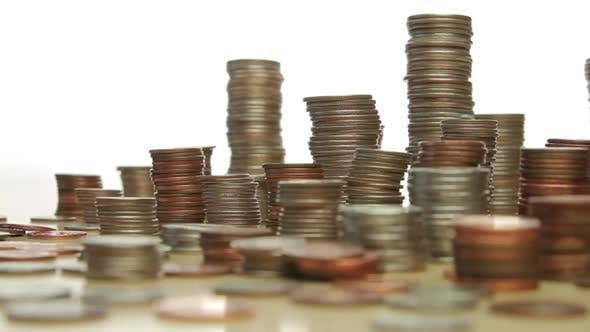 Thumbnail for Stapel von Münzen Form Skyline