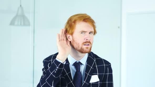 Thumbnail for Man Listening Secret Carefully, Red Hairs
