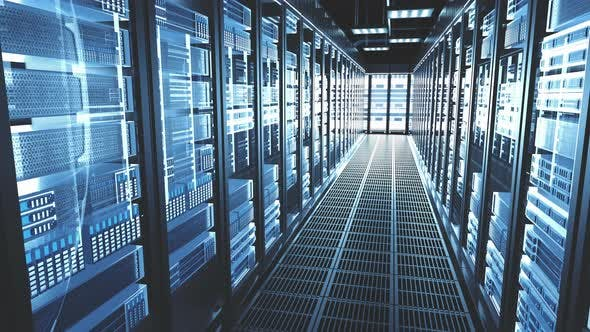 Thumbnail for Exemplarische Vorgehensweise für Server-Racks im modernen Rechenzentrum Cloud Computing Rechenzentrum