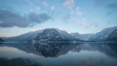 Timelapse of mountains at Hallstatt Lake