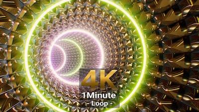 Multi Color Light Golden VJ Tunnel 4K