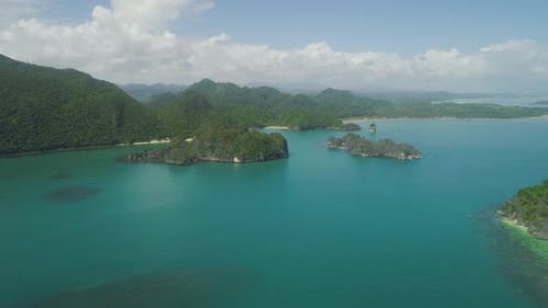 Seascape of Caramoan Islands, Camarines Sur, Philippines