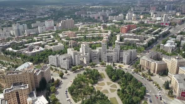 Thumbnail for Panoramic Aerial Circular Shot of the Derzhprom Building and the Buildings of Karazin University