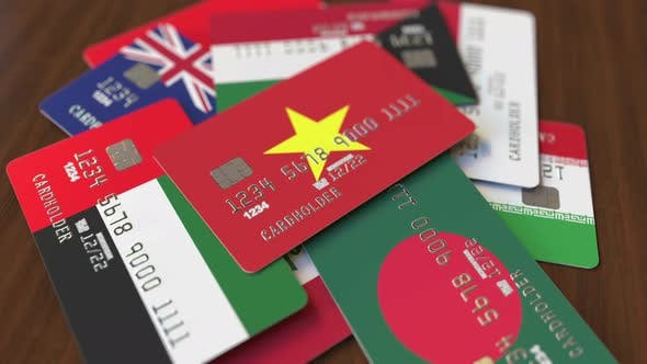 Thumbnail for Emphasized Bank Card with Flag of Vietnam