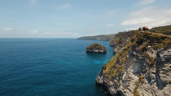 Thumbnail for Cliffs, Sea and Waves at Nusa Penida, Bali, Indonesia