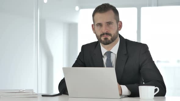 Thumbnail for Portrait of Serious Businessman Looking at Camera