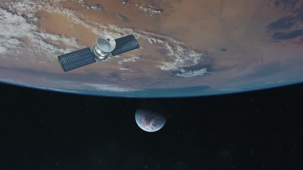 Thumbnail for Satellite Approaching a Distant Exoplanet