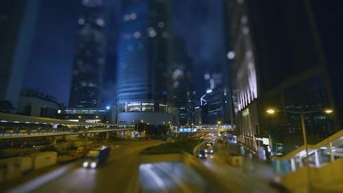 Traffic in City Night